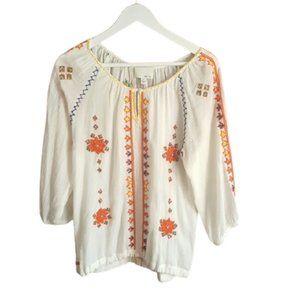 🌻host pick🌻 Boho peasant embroidery beaded tunic